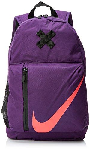 Elemental Rush BA5405-533 Mochila para niños Nike , Morado (Purple/Black/Coral), 22 litros