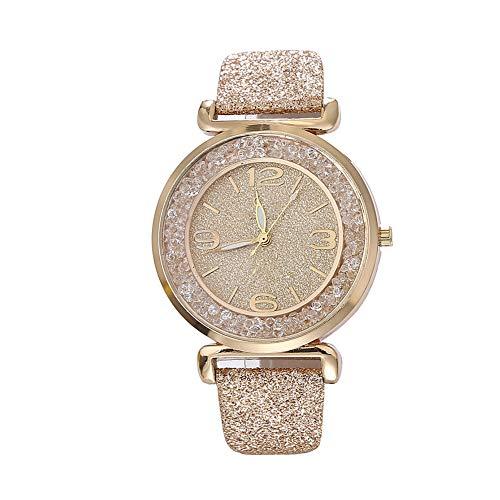 Yahunosu Liquidación Cristal de Las Mujeres Relojes de Cuarzo analógico Numeral Señora Reloj de Pulsera para la Fiesta de Bodas de Oro