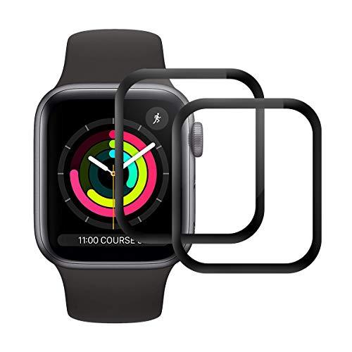 Cristal Templado para Apple Watch Series 1/2 /3 38mm, [2 Unidades] [2.5d Borde] [9H Dureza] [Sin Burbujas] Vidrio Templado Premium Protector de Pantalla para iWatch Series 1/2 /3 38mm