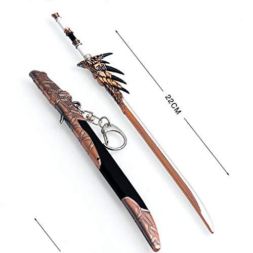 LTKJ (Keine Klinge) Spiele Requisiten 1/6 Metall Waffe Schwert Modell Action Figure Für Kinder Spielzeug Geschenk (A)