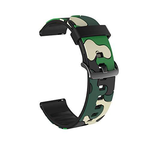 WSGGFA Reloj de Silicona Colorido para Huawei Honor Magic Watch 2 46mm 42mm Correa 20 / 22mm Pulsera del Deporte para Huawei Honor Magic Belt para Samsung Galaxy Watch Active2 40mm 44mm