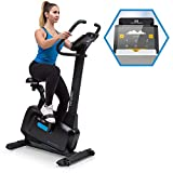 Capital Sports Evo Pro Cardiobike - Fitnessfahrrad mit Trainingscomputer, Heimtrainer, Bluetooth, 32 Stufen, App-Integration, 20 kg Schwungmasse, Tablet-Halterung, Pulssensor, schwarz