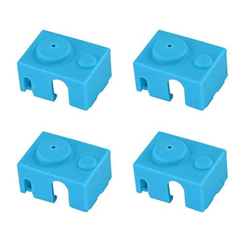 3D Parti e Accessori Silicone Sock Cover per Stampante 3D Coperchio in Silicone Compatibile con E3D V6-4pcs Bleu