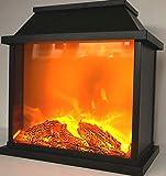 CBK-MS. LED Kunststoff Laterne Kamin mit Flammen Optik Batteriebetrieb 30 cm Tischkamin mit täuschend echten Flammeneffekten - 5