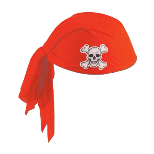 360 DEGREES Chapeau Bandana Rouge Pirate Adulte