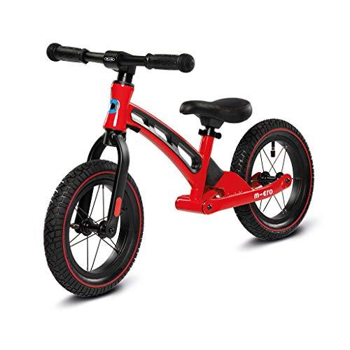 MicroClean-Micro Balance Bike Deluxe Bicicleta de Paseo, Color Rojo Mobility GB0033