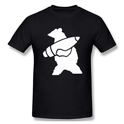 Hombres Wojtek The Bear Funny Camiseta de Manga Corta Negro 6XL
