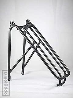 Dino Kiddo Black Aluminum Rear Regular Size Rear Rack for Brompton Folding Bike