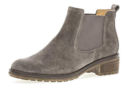 Gabor Damen Chelsea Boots 91.610,Frauen Stiefel,Halbstiefel,Stiefelette,Bootie,Schlupfstiefel,hoch,Blockabsatz 3cm,F Weite (Normal),Wallaby,UK 5