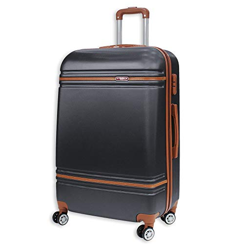 Lightweight 4 Wheels Spinner Hard Shell Travel Luggage Suitcase Cabin Bag LC811 (32' XLarge (H86xW55xD31cm), Grey)