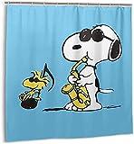 Cartoon Snoopy Duschvorhang Badezimmer Dekor Exquisite Schimmelresistent Wasserdicht Extra Lang Badvorhang mit 12 Kunststoffhaken