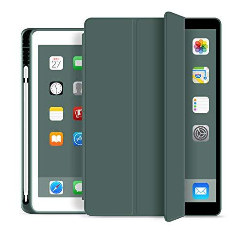 Funda para iPad Pro 11 12 .9 2020 Funda con Soporte para lápiz Funda Inteligente para iPad 10.2 Air 3 Pro 10.5 11 12.9 2018 7th Gen-Green 11 2018