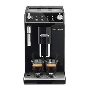 De'longhi Autentica Etam 29.510.B – Cafetera Superautomática, 1450 W, capacidad 1.3 L, muy estrecha, dispositivo cappuccino y variedad de cafés, 2 tazas, molinillo café silencioso, auto apagado, negro