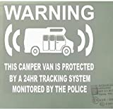 Platinum Place 6 x Camper Van Dummy/Fake GPS Tracking System Device Unit - Campervan Security Alarm Warning Window Stickers - Police Monitored Vinyl Sign