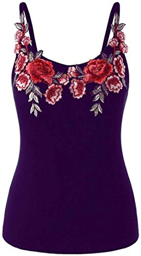 Plus Size Shirt for Womens Rose Embroidery Floral Lace up Ribbed Tops Casual T-Shirts Blouse Camisole Top
