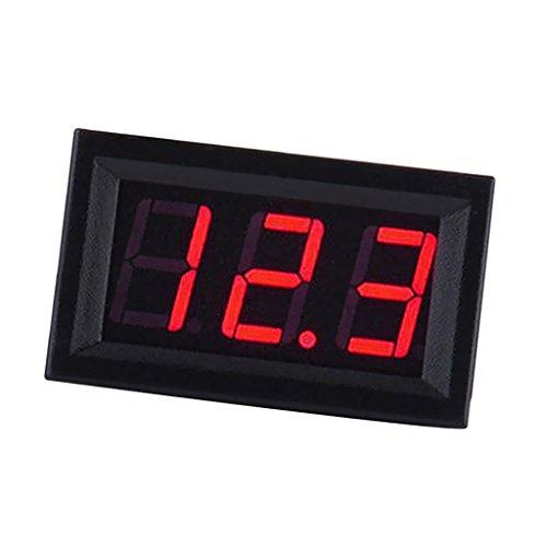 0,56\'\' Mini Digital Voltmeter Spannungsprüfer Spannungsanzeige DC 5-120V Volt Panel Meter Voltage Gauge mit LED Display Digitale Spannung Autobatterie Tester Auto Voltanzeige Panelmeter - rot