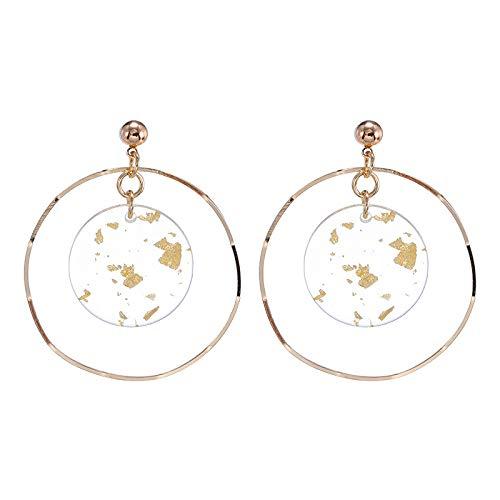 Kiccoum Mode Ohrringe Goldene Folie Scheibe Nische Design Hohle Geometrische Wellenring Ohrringe Dünnes Gesicht Ohrring Weibliche Ohrentropfen