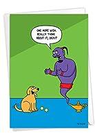 NobleWorks, Dog Wishes - 陽気な誕生日グリーティングカード 封筒付き - C3673BDG