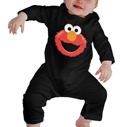 Dezzert030 Die Muppet Elmo Gesicht Baby Langarm Onesies Bodysuit Baumwolle Kleinkind Strampler Overalls für Jungen Mädchen