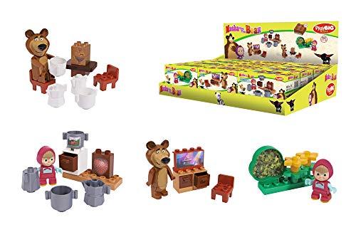 BIG Spielwarenfabrik 800057090 - PlayBIG Bloxx Masha und der Bär Starter Set, 3- fach sort