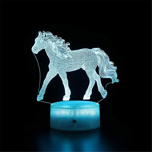 Unicorn J 3D Lámpara de ilusión LED de luz nocturna Juego Iluminación 3D - Regalo perfecto Festival de cumpleaños Navidad para bebés y adolescentes amigos