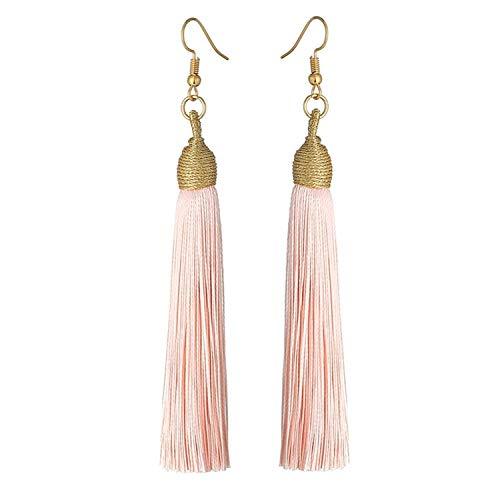 Sunwd Mujer Pendientes, NEW Long Tassel Earrings For Women Boho Drop Dangle Fringe Earrings Wedding Vintage Statement Fashion Jewelry New Color1