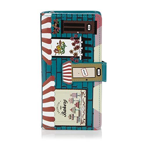 Shagwear Junge-Damen Geldbörse, Large Purse Designs: (Bäckerei Petrol/Bakery)