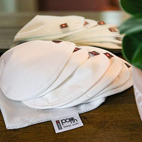 Close Pop-In Almohadillas Lactancia Reutilizables con Bolsa de Malla Para Lavado Pack de 6 Almohadillas de Viscosa Bambú Contorneadas