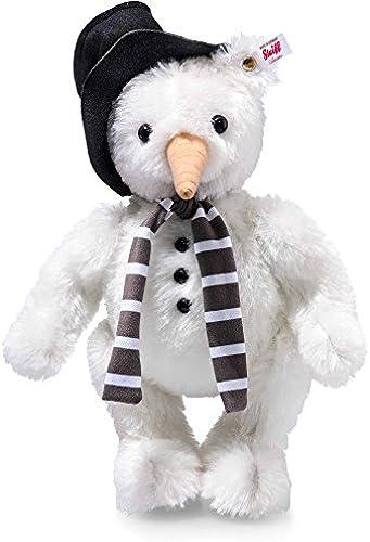 Steiff 021718 Monty Schneemann Ted aus feinstem Mohair Weiß 5-fach gegliedert 30 CM
