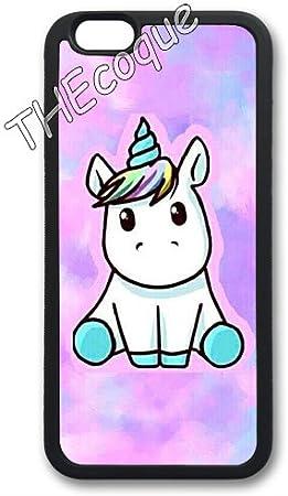 Coque silicone BUMPER souple IPHONE 4/4s - Licorne unicorn Cheval mignon CASE tpu DESIGN Film de protection INCLUS