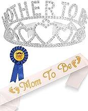 تاج و تخت قلب تاج طلائی Tiara | مامان باشم | بابا به پین | پارتی دوش کودک از دکوراسیون هدیه پسر یا دختر استقبال می کند | جنسیت نشان می دهد هدیه های مهمانی | عالی برای مادر جدید (نقره)