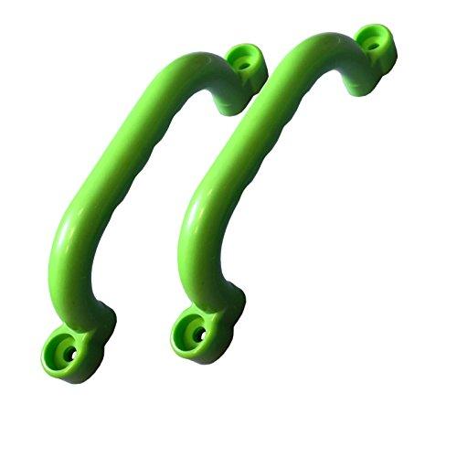 Loggyland Handgriffe für Spielanlagen Set mit 2 Stück apfelgrün Haltegriffe