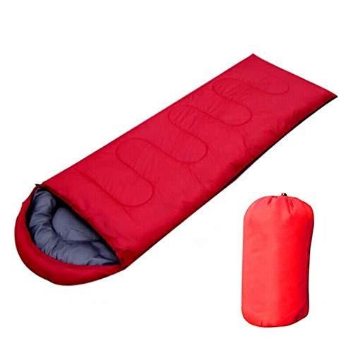 Sac de couchage en plein air portable sac de couchage imperméable avec capuchon en forme d'enveloppe sac de couchage Nemo, Rouge