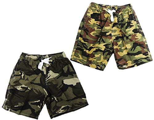 Unbekannt 2er Pack Tolle Camouflage Jungen Badeshorts in den Größen 98-188 (152-158)