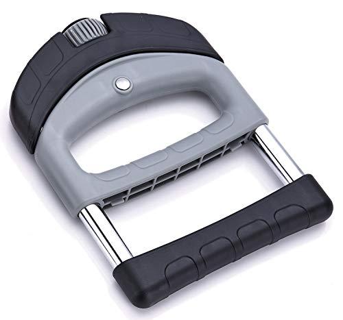 Tunturi-Fitness 14TUSFU009 Fortalecedor de Mano Power Grip Duro, Unisex Adulto, Gris, Talla Única