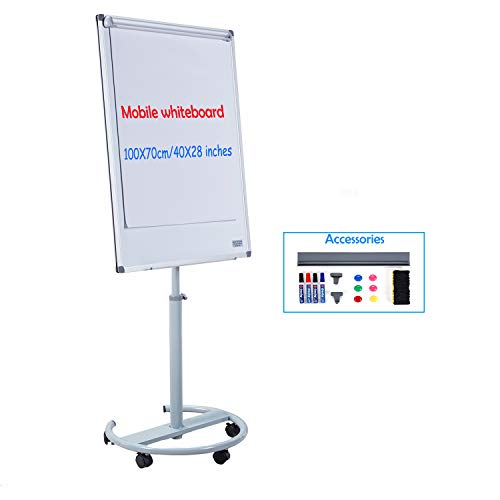 Makello Flipchart-Staffelei, magnetisches Whiteboard mit Ständer #2 100X70cm