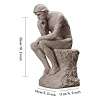 ZTIANEF バスト 手作り彫刻 彫像 スタチュー スカンジナビア 砂岩 思想家 クリエイティブデコレーション ホームスタジオ リビングルーム レトロデコレーション オフィスデコレーション ギフト