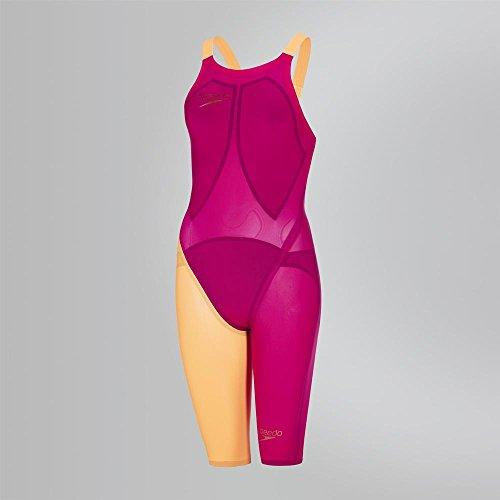 Speedo 8-09170C294 Bañador de Competición, Mujer, Rojo (Magenta/Fluo Orange), 23