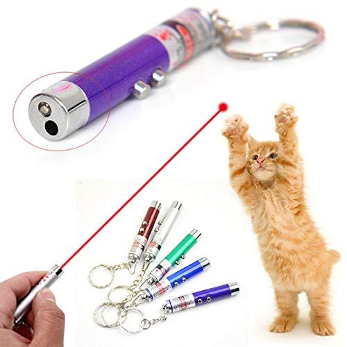 HAODGUO Lustige PetLaser Katze Spielzeug Red Dot Laser Licht Pointer Laser Stift Interaktive Spielzeug Katze Stick Katze Spielzeug Zufällige Farbe