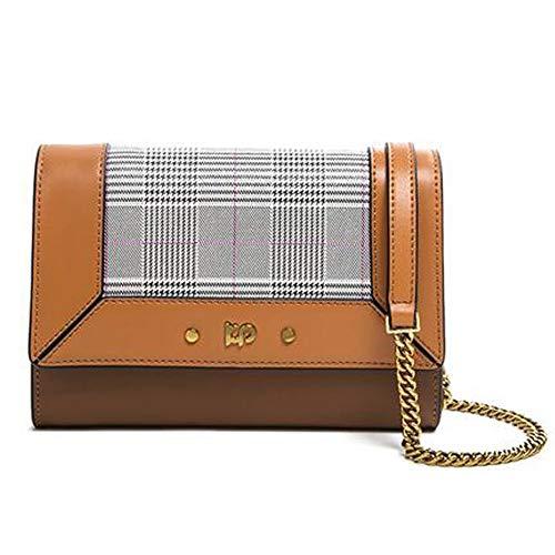 Rongjuyi dames nieuw leer kleine vierkante zak stof ketting schoudertas Messenger Bag