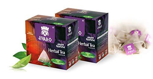 JIVARO Guayusa Tee (Doppelpack) - 2x15 Teebeutel - Kräutertee für Konzentration verbessern & Antioxidantien - Enthält Koffein & L-Theanin - Traditioneller Energie Tee der Amazonas Jäger!