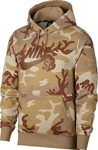 Nike Mens M NK SB Hoodie ICON ERDL AT9755-248_L - Desert ORE/Parachute Beige/ALE Brown