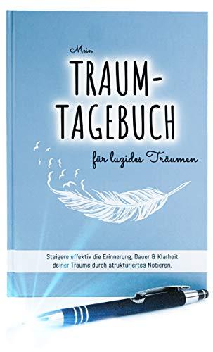 Traumtagebuch für luzides Träumen | Hardcover Notizbuch & LED-Kugelschreiber