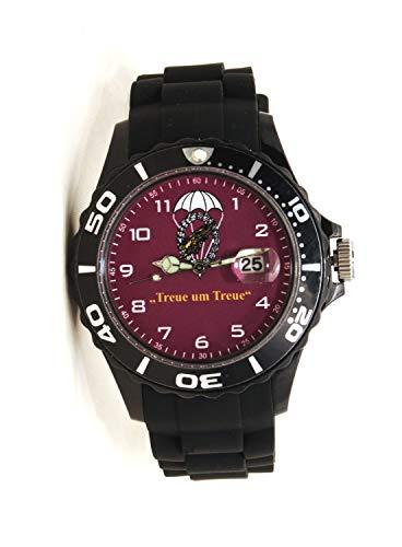 IMC Fallschirmjäger schwarz/Bordeaux Herren Männer Armbanduhr Silikon Uhr Quarz Sonderedition