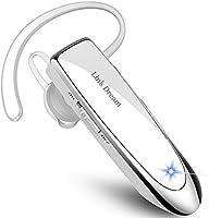 Bluetooth ワイヤレス ヘッドセット V4.1 片耳 日本語音声 マイク内蔵 ハンズフリー通話 日本技適マーク取得品 長持ちイヤホン IOS Android Windows対応