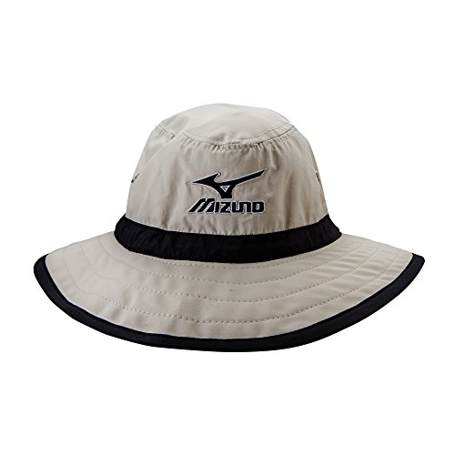 Mizuno Large Brim Sun Hat Chalk/Black, Large/X-Large
