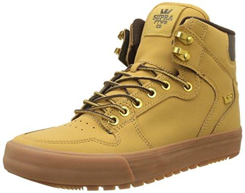 Supra Vaider Cold Weather Skate Shoe, Amber Gold-Light Gum, 10 Regular US