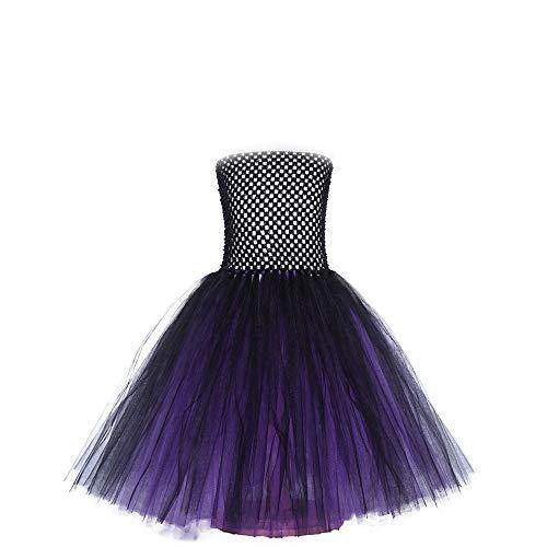 Ropa de nios Halloween nia bruja gasa vestido Cosplay mago danza mgica ropa