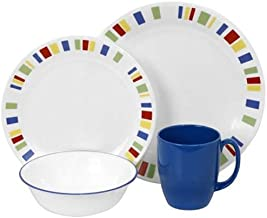 CORELLE 1092905 Livingware 16-Piece Dinnerware Set, Memphis, Service for 4