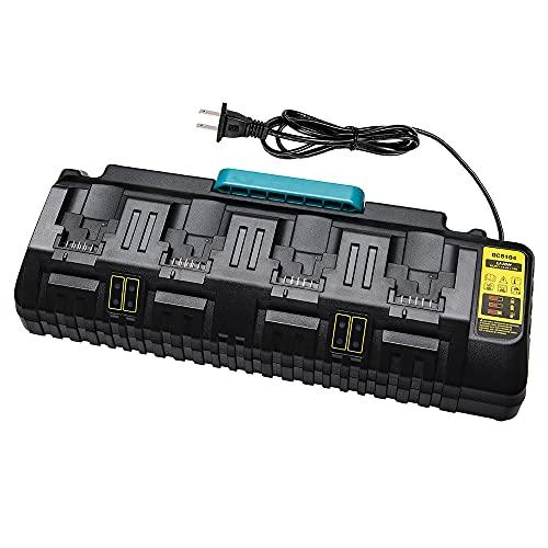 for dewalt Charger DCB104 , LENMAX 4-Ports Fast Charger Compatible with 12V 20V Max Li-ion Batteries DCB205-2 DCB204 DCB127 DCB609 Replace for Dewalt Battery Charger DCB102BP DCB118 etc